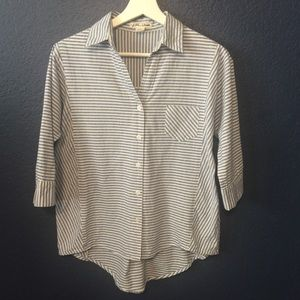 Lili's Closet Anthro Stripes Button Up Shirt